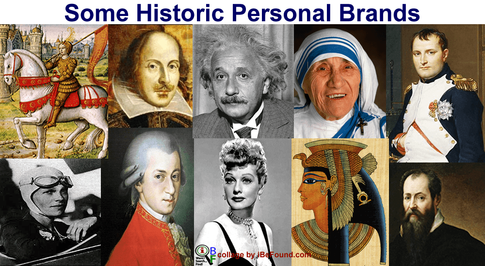 Some historic personal brands | iBeFound
