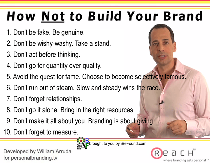 The Don'ts of Brand Building