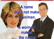 A name does NOT make a man.