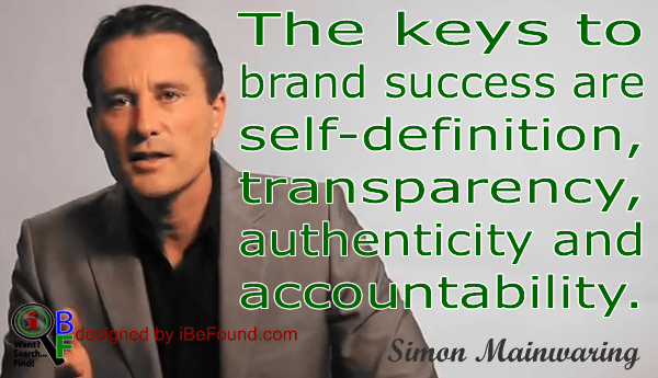 Simon Mainwaring's Keys to Brand Success
